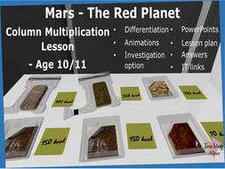 Age 10/11 Column Multiplication Lesson