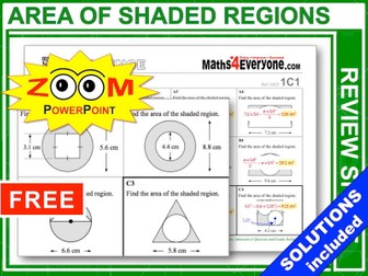 GCSE Revision (Area of Shaded Regions)