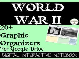 The Second World War Digital Interactive Notebook Pages - 20+ Organizers included
