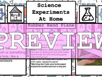 Science Home Experiment - Rubber Band Plane