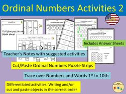 Ordinal Numbers Worksheets and Activities Puzzle Strips