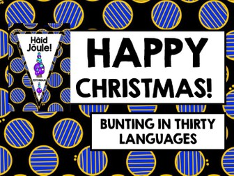 HAPPY CHRISTMAS IN 30 LANGUAGES BANNERS