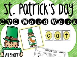 St. Patrick's Day CVC Word Work Center