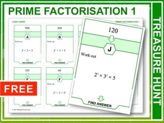 Prime Factorisation (Treasure Hunt)