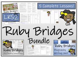 LKS2 History - Ruby Bridges Reading Comprehension & Biography Bundle