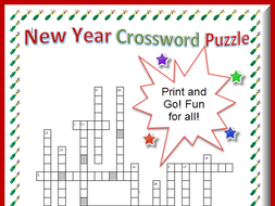 New Year Crossword Puzzle with Answers