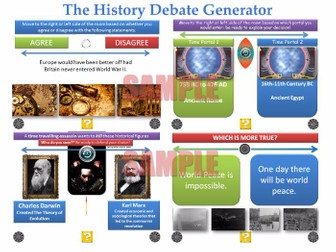 The History Debate Generator [200 Slide PPT with 'Randomiser'] [P4C]
