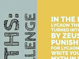 Lycaon Writing Challenge: Greek Myths