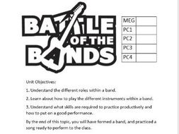KS3 Battle of the Bands Scheme of Work by u1453929