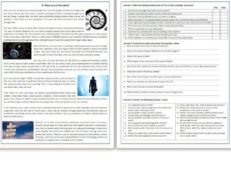 Is Time Travel Possible? - Reading Comprehension / Informational Text