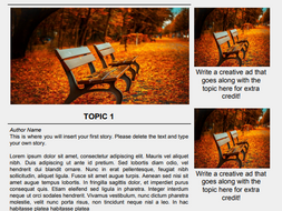 Magazine Template for Google Docs by ltgunkel - Teaching Resources - Tes