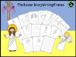 The Easter Story Writing Frames