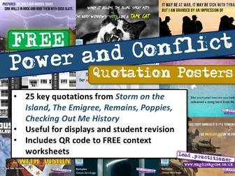 Power and Conflict Key Quotes Revision