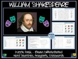 William Shakespeare Puzzle Pack