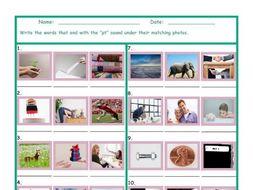 Phonics Final Consonant Cluster PT Photo Worksheet