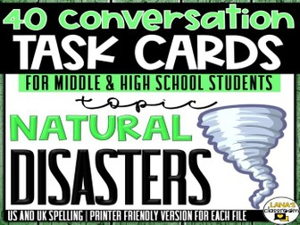 Conversation Starter Cards | Natural disasters | Social Skills for Middle&High