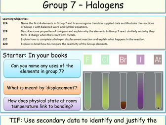 Group 7 - The Halogens