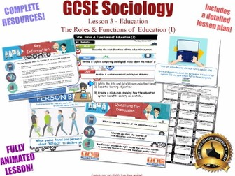 Roles & Functions of Education - Sociology of Education L3/20 [ AQA GCSE Sociology - 8192 ] NEW KS4