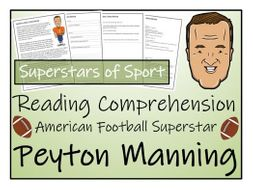 UKS2 Literacy - Peyton Manning Reading Comprehension Activity