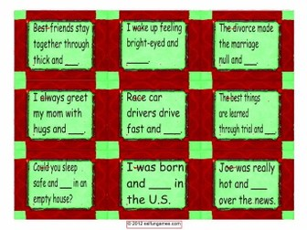 Word Pairs or Binomial Cards 4 Pages 36 Cards