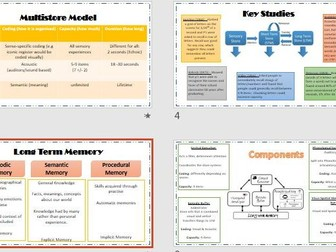 MEMORY Revision Powerpoint AQA Psychology