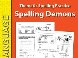 Thematic Spelling Practice: Selling Demons