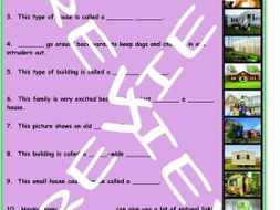 House or Apartment Hunting 3 Photo Worksheet Set