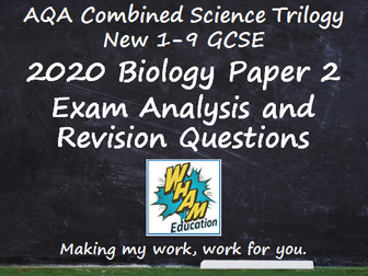 AQA Combined Science Trilogy Biology Paper 2 Revision and 2020 Exam Support