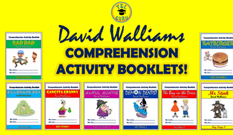 David Walliams Comprehension Activity Booklets Bundle!