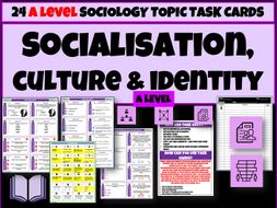 Socialisation Culture Identity Sociology Task Cards