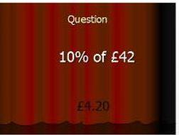 Percentage of an amount (money)