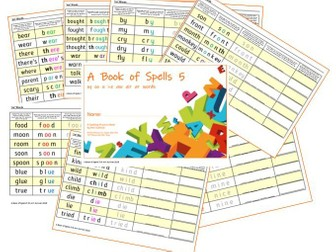 Phonics for SEN: Book of Spells 5 - Spelling Practice Books - oy  oo  u  i-e  aw  air  ar