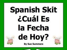 Spanish Calendar and Dates Skit / Role Play / Speaking Activity - El Calendario