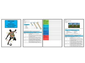 Btec Sport - Level 3 - Unit 1 - Structure Strip - Skeletal System (Long Answer Questions)
