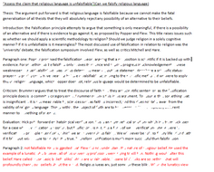 """""""Assess the claim that religious language is unfalsifiable""""(Can we falsify religious language)"""