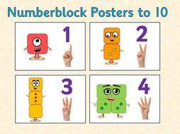 Number Posters to 10 (Numberblocks)