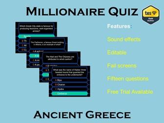 Millionaire Quiz! (Ancient Greece Edition)