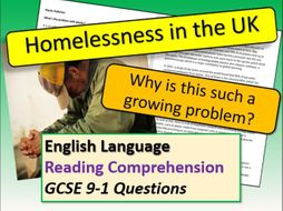 Home Learning - Homelessness Comprehension