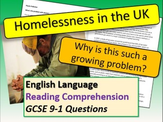 Homelessness Reading Comprehension
