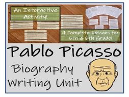 UKS2 Literacy - Pablo Picasso Biography Writing Unit
