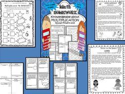 Making Math Homework Fun with Multiplication