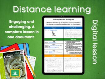 SB1.3 Eukaryotic and Prokaryotic cells Distance learning (AQA GCSE Bio)