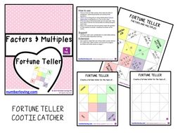 Factors and Multiples Fortune Teller