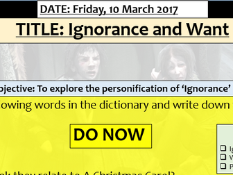 A Christmas Carol - Ignorance and Want