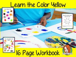 Color 'Yellow' 16 Page Workbook