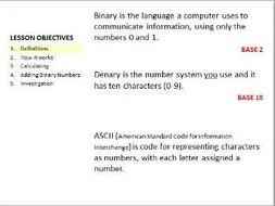 Binary, Deary and ASCII