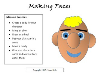 Making Faces - Using the drawing tools in Microsoft Word
