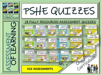 PSHE RSE KS3 Assessment Quizzes 2020