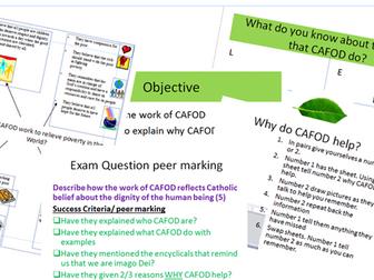Eduqas Religious Studies Route B  GCSE Origins and Meaning,  Cafod & imago Dei