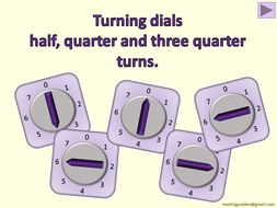 Numeracy\Maths - Rotating dials by halves and quarters - Interactive PowerPoint (KS1)
